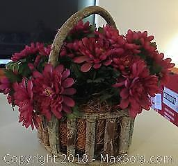 Fabric Flowers in a Basket
