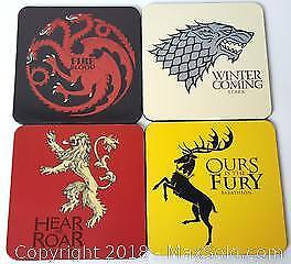 Game Of Thrones Table Coaster Set Of 4