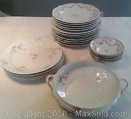 Bridal Rose pattern dishes
