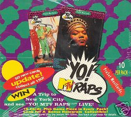 YO! MTV RAPS SERIES 2 PRO SET 1992 FACTORY SEALED TRADING CARD BOX OF 36 PACKS