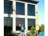 Window cleaning round... waterfed pole
