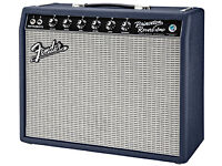 fender princeton reverb 65 navy blue limited edition guitar amplifier