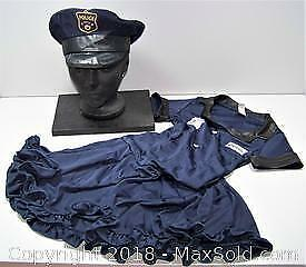 Cutie Cop Halloween Costume Child's Medium 8/10 - B
