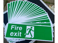 JOBLOT - 27 x FIRE EXIT SIGNS - 30cm - OFFICE RETAIL INDUSTRIAL WORK HEALTH & SAFETY BUSINESS