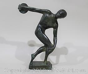 Bronze Olympian Sculpture of a Discus Thrower