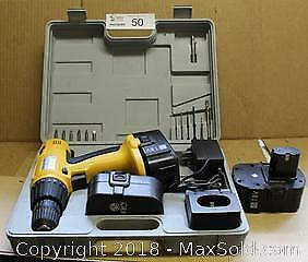 "Cordless Drill Kit/ Charger/ Bonus Battery in Case Pick up in Time-slot ""A"""