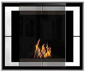 The Original Flame Black Ambiance Decoflame Ethanol Fireplace - Display Model