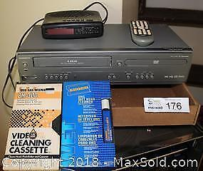 """DVD/VHS Machine and AM/FM Clock Radio Pick up in Time-slot """"B"""""""