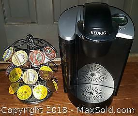 Keurig K-Cup Coffee Maker And Rack