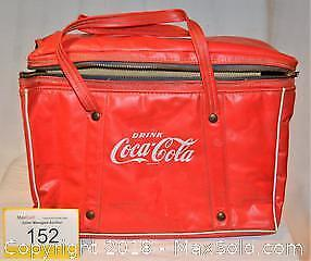 Early vintage COCA-COLA ZIPPERED Outdoor Cooler BAG