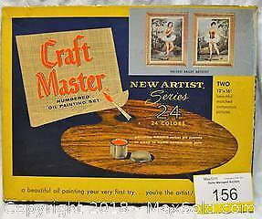 Vintage CRAFT MASTER PAINT BY NUMBERS SET.