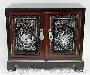 Lacquer and Mother of Pearl Jewelry Box