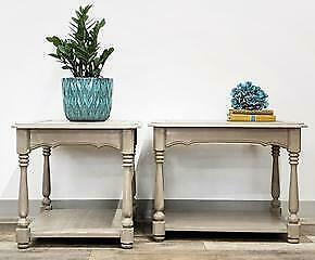 Chalk Therapy 2 Side Tables - 22W x 28½D x 21H