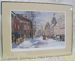Listed Canadian Artist Horace Champagne Print