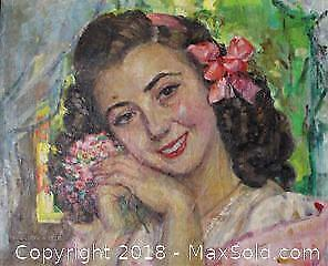 1930s Oil on Canvas Painting