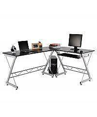 L-Shaped Space Saving Corner Computer desk / Office Desk / Desk