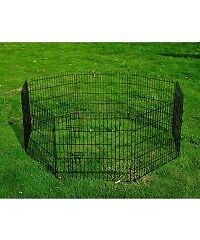 Pet Rabbit Guinea Dog Pig Puppy Playpen Play Pen Metal Hutch 24""