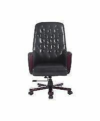 Deluxe Tufted High Back Office Chair / Adjustable Chair Black