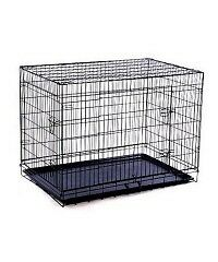"42""Pet Cage Crates 2 Doors / Folding Playpen Dog Pen Wire Cage"