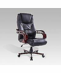 Office Genuine leather Chair w/ Adjustable Arms & Height / CHAIR