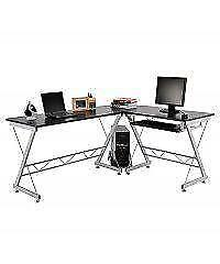 L-Shaped Space Saving Corner Computer desk / Office Desk / Desk