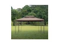 For Sale Gazebo Replacement Top Cover Tent Roof 2 Tier, size (3m x 4m)-Brown