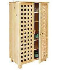 Pine Shoe Cabinet | EBay