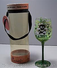 Toxic Pick Your Poison Top Shelf Handpainted Vintage Goblet - B