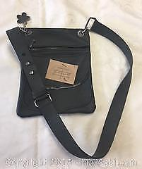 Charcoal Leather Handmade Purse
