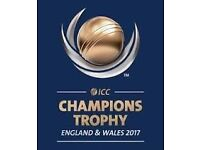 ICC CHAMPIONS TROPHY 2nd SEMI-FINAL (A2 V B1) @ EDGBASTON, 4 x Silver Tickets - All Seated Together