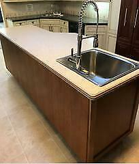 Merrett Home Hardware Building Centre Kitchen Island with Coreon Top - includes Sink & Tap
