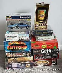 Mixed Lot of Board Games & Models, New & Opened ALL COMPLETE
