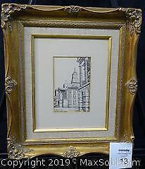 """Signed Etching """"Osgoode Hall"""""""