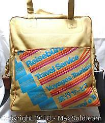 AMEX Vintage 1950s Intercontinental Promotional Canvas Bag
