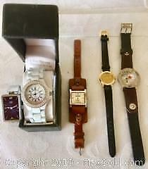 Collection of 5 New and Used Wrist Watches