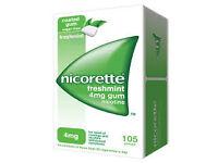 Nicorette gum freshmint 2mg box of 105