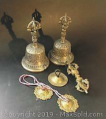 ANTIQUE Tibetan Singing Bells and other items for meditation.