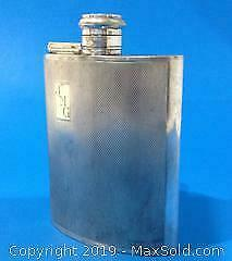 English Silver plated flask.