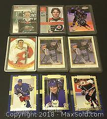 Lot of 9 Player Cards Including Gretzky / Sharp