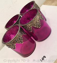Purple Stained Glass Votives
