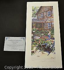 """Laura Berry """"Country Garden"""" limited edition print, Artist Proof s/n"""