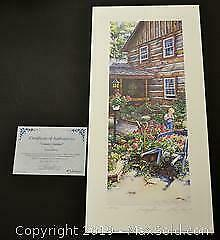 Laura Berry Country Garden limited edition print, s/n
