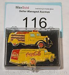 COCA-COLA - Lot of 2 Coke PINS featuring vintage delivery trucks.