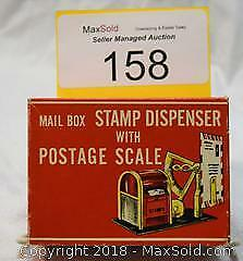 Functional Toy MAIL BOX STAMP DISPENSER with POSTAGE SCALE.