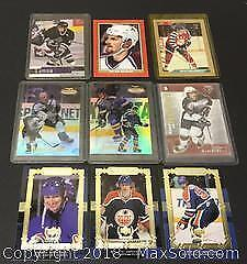 Lot of 9 Player Cards Including Gretzky / Bellows / Stuart And More