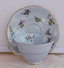 Decorative Porcelain Cup & Saucer - Collingwoods Bone China, England