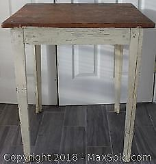 Antique Small Square Hall Table