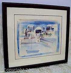 Listed Artist Signed Alfred Birdsey Framed Watercolor Painting