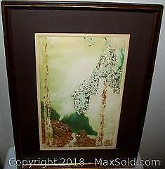 Framed Mixed Media Abstract Acrylic Etching Signed M. Little