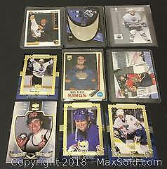 Lot of 9 Player Cards Including Gretzky / Oates / Flett And More